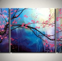 アートパネル 『桜』 30x60cm、2枚組他、計3枚