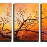 アートパネル 『梅の枝』 40x60cmm、3枚組