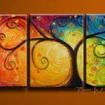 アートパネル 『生命の樹へのオマージュⅠ』 40x60cm、計3枚組
