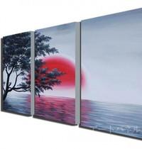 アートパネル 『日の出』 40x60cm、3枚組