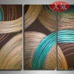 アートパネル 『円』 30x70cm、3枚組