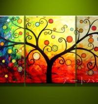 アートパネル 『生命の樹へのオマージュⅢ』 40x60cm、計3枚組