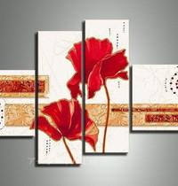 アートパネル 『花びらⅣ』 20x75cm、2枚他、計4枚組