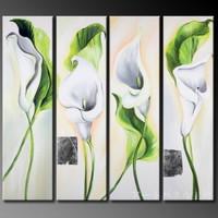 アートパネル 『花びら』_30x90cm、4枚組