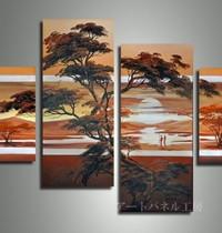 アートパネル 『松と夕陽』 30x40cm、2枚他、計4枚組