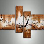 アートパネル 『線と色』 20x75cm、2枚他、計4枚組