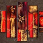 アートパネル 『オリエンタル』 30x80cm x 2枚他、計5枚組
