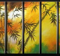 アートパネル 『竹』 30x90cm、5枚組