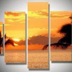 アートパネル 『夕焼け/海』 30x60cm x 2枚他、計5枚組