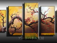 アートパネル 『梅の咲く木』 合計5枚組