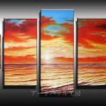 アートパネル 『夕日と水平線』 30x40cm他、5枚