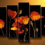 アートパネル 『暗中の花Ⅱ』 30x60cm x 2枚他、計5枚組