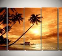 アートパネル 『バカンス』 30x70cm、5枚組