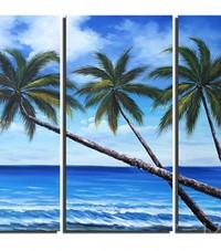 アートパネル 『南洋の楽園』 40x80cm x 3枚組