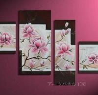 アートパネル 『ピンクの花びらⅡ』 40x50cm、1枚他、計4枚組