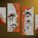アートパネル 『白い花びらⅤ』 30x40cm、2枚他、計4枚組