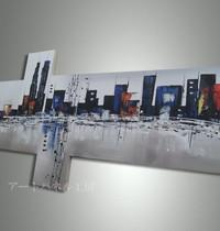 アートパネル 『都市Ⅱ』 25x60cm x 2枚他、計4枚組