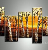 アートパネル 『夕暮れのブナ』 30x60cm x 2枚他、5枚組