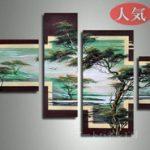 アートパネル 『松Ⅲ』 30x60cm、1枚他、計4枚組
