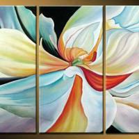 アートパネル 『花びら』 30x60cm x 3枚組