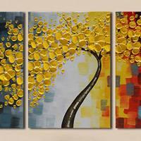 アートパネル 『黄色い花の咲く木』 40x60cm x 3枚組