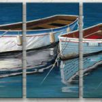 アートパネル 『ヨット』 30x60cm x 3枚組