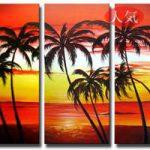 アートパネル 『南国の朝』 30x60cm x 3枚組
