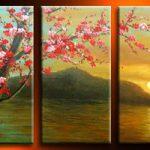 アートパネル 『海・山・梅』 30x60cm x 3枚組