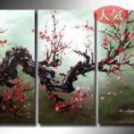 アートパネル 『梅Ⅱ』 30x60cm x 3枚組