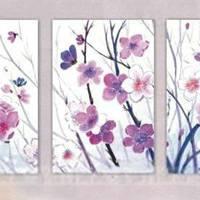 アートパネル 『花と蝶』 40x60cm x 3枚組
