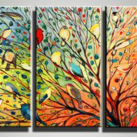 アートパネル 『小鳥』 30x60cm x 3枚組