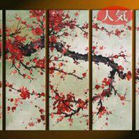 アートパネル 『紅梅Ⅱ』 30x90cm x 5枚組