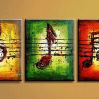 アートパネル 『音楽』 40x60cm、3枚組