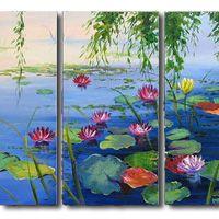 アートパネル 『湖畔』 30x60cm x 3枚組
