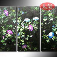 アートパネル 『アサガオ』 30x60cm x 3枚組