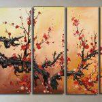 アートパネル 『梅の木Ⅱ』 30x90cm x 5枚組