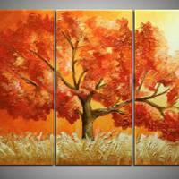 アートパネル 『秋の紅葉』 30x60cm x 3枚組