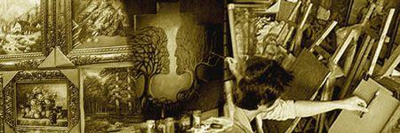 画家が手描きで制作