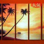 アートパネル 『南国』 30x90cm x 5枚組