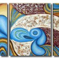 アートパネル 『風水的、グラフィティ的』 40x50cm x 3枚組