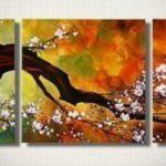 アートパネル 『桜Ⅱ』 40x40cm x 3枚組