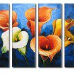 アートパネル 『花々Ⅱ』 30x80cm x 4枚組