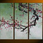 アートパネル 『梅の木Ⅵ』 30x80cm x 5枚組