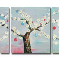 アートパネル 『幸福の木』 40x40cm x 3枚組