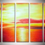 アートパネル 『夕焼け』 30x80cm x 5枚組