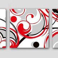 アートパネル 『流線』 40x40cm x 3枚組