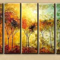 アートパネル 『樹木』 25x75cm x 5枚組