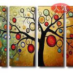 アートパネル 『生命の樹Ⅲ』 30x80cm x 4枚組