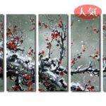 アートパネル 『梅の木Ⅴ』 30x80cm x 5枚組