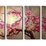 アートパネル 『桜の木Ⅱ』 30x70cm x 4枚組